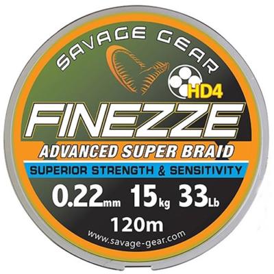 Savage Gear Finezze HD4 kuitusiima 120m keltainen