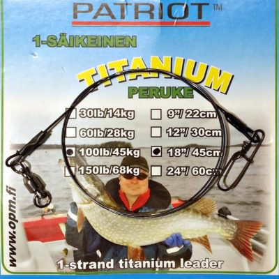 Patriot Titaaniperuke 45cm/68kg